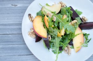 beet and peach salad