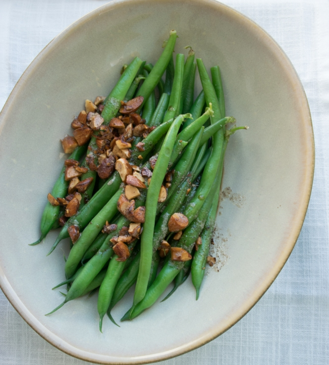 green beans with brown butter