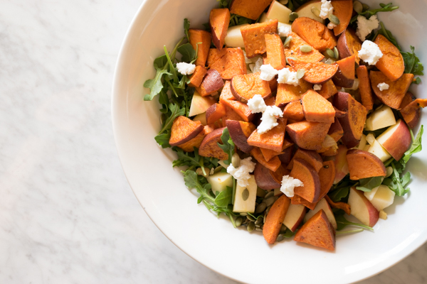 apple & sweet potato salad