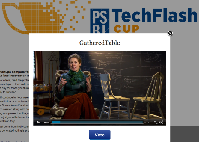 vote for gatheredtable in techflash cup 2014