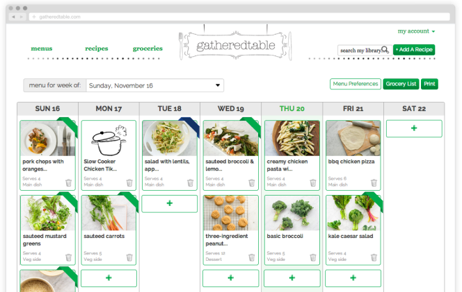 new gatheredtable menu design