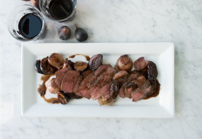 filet mignon with shallots and figs