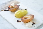 roasted pears with ricotta and honey