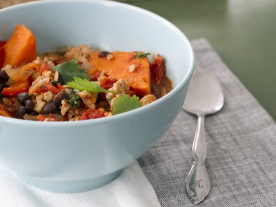 turkey black beand and sweet potato chili