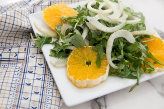 Arugula, Fennel, and Orange Salad adapted from Williams Sonoma