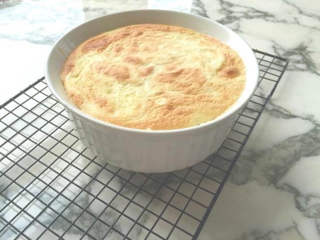 Lemon Pudding Cake adapted from Martha Stewart