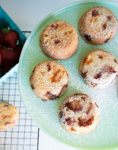 Apricot And Strawberry Cupcakes