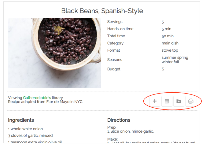 black beans recipe from gatheredtable