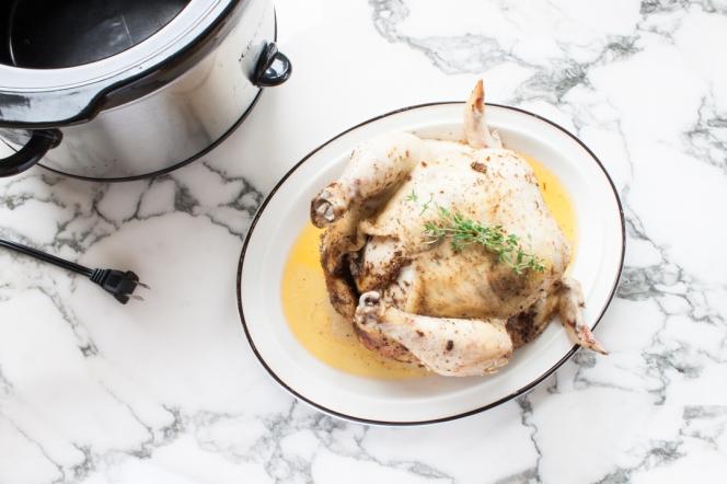 herbed chicken in the crock pot 2