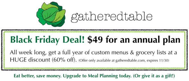 gatheredtable black friday deal