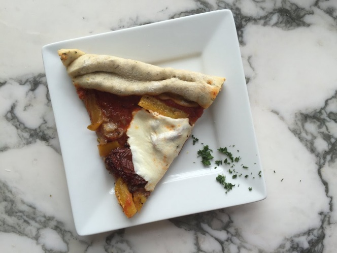 Caramelized Onion And Pepper Sausage Pizza