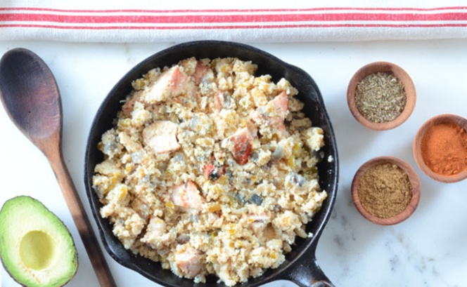 Mexican Chicken with Cauliflower Rice from Elana's Pantry