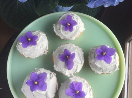 Lemon Cupcakes With Lavender Frosting