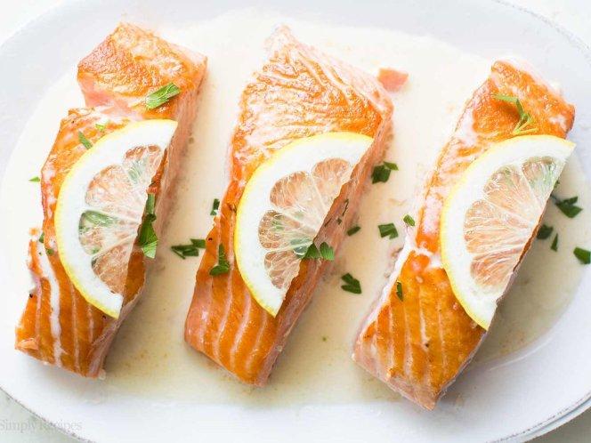 Salmon with Lemon Cream Sauce