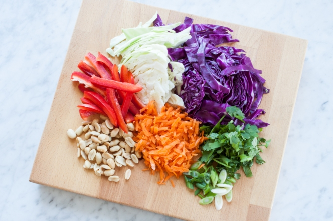 Mason Jar Asian Slaw with Peanut Dressing