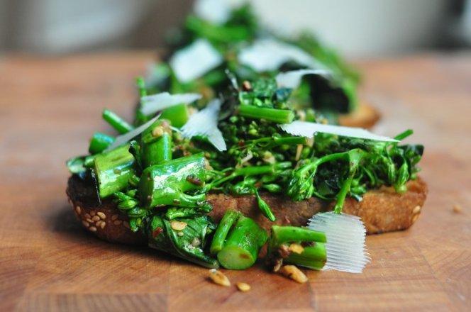 Salty Broccoli Toast