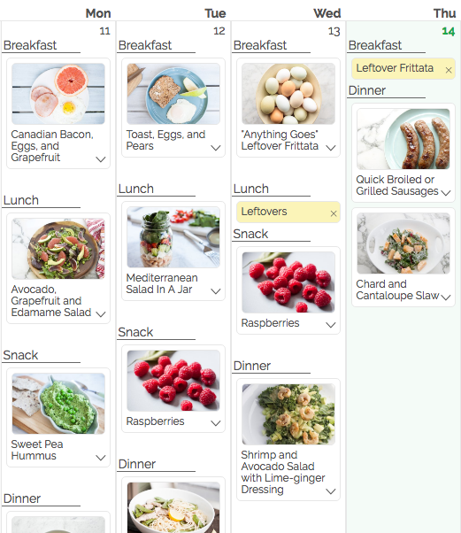 gatheredtable planner organized by meal